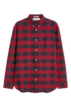 Checked shirt Regular fit - Red/Blue checked - Men | H&M 2
