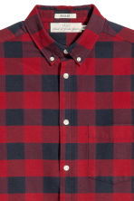 Checked shirt Regular fit - Red/Blue checked - Men | H&M 3