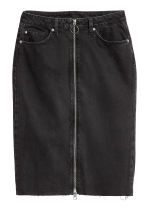 Zip-front denim skirt - Black - Ladies | H&M IE 2