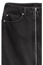 Zip-front denim skirt - Black - Ladies | H&M IE 4