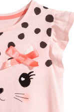Frill-sleeved nightdress - Light pink - Kids | H&M CN 2