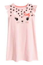 Frill-sleeved nightdress - Light pink - Kids | H&M CN 1