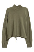 Drawstring jumper - Khaki green - Ladies | H&M CN 2