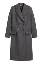 Wool-blend coat - Grey marl - Ladies | H&M CN 2