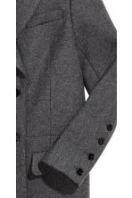 Wool-blend coat - Grey marl - Ladies | H&M CN 4