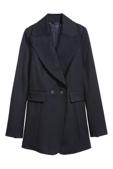 Short cotton-blend coat