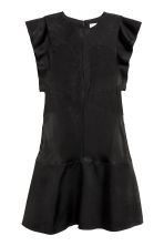Frill-sleeved dress - Black - Ladies | H&M 2