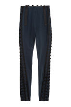 Ribbon-embroidered trousers - Dark blue - Ladies | H&M 2