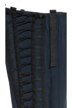Ribbon-embroidered trousers - Dark blue - Ladies | H&M 4