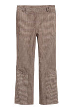 Cropped trousers - Brown/Black checked - Ladies | H&M GB 2