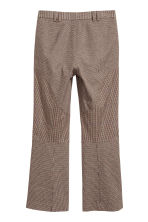 Cropped trousers - Brown/Black checked - Ladies | H&M GB 3
