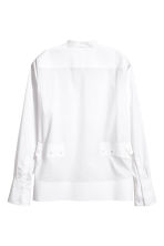 Cotton shirt with dress collar - White - Ladies | H&M 3