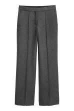 Wide wool-blend trousers - Grey marl - Ladies | H&M 2