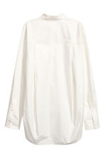 Cotton poplin shirt - Natural white - Ladies | H&M GB 3