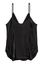 V-neck strappy top - Black - Ladies | H&M 3