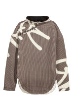 Sweatshirt with a zip - Brown/Black checked - Ladies | H&M CN 2