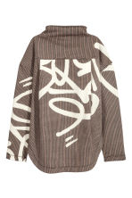 Sweatshirt with a zip - Brown/Black checked - Ladies | H&M 3