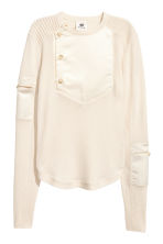 Cashmere-blend jumper - Natural white - Ladies | H&M IE 2