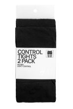 2-pack control-top tights - Black - Ladies | H&M 1