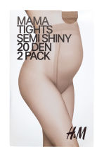 MAMA 2-pack tights - Light amber - Ladies | H&M 2