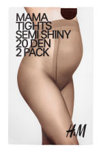 MAMA 2-pack tights - Dark brown - Ladies | H&M 2