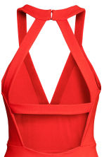 Fitted dress - Red -  | H&M 4