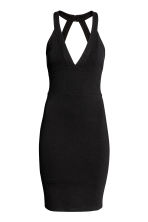 Fitted dress - Black - Ladies | H&M 2