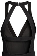 Fitted dress - Black - Ladies | H&M 4