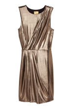 Metallic jurk - Metallic - DAMES | H&M BE 2