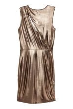 Metallic jurk - Metallic - DAMES | H&M BE 3