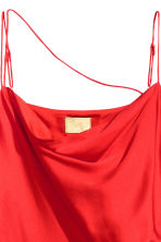 Draped satin dress - Bright red -  | H&M 3