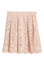 Short lace skirt - Beige - Ladies | H&M CN 2