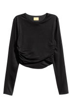 Cropped top - Black - Ladies | H&M GB 2