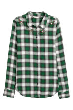 Shirt - Green/Checked -  | H&M 2