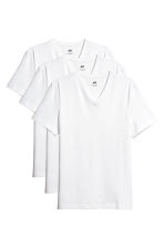 T-shirt Slim fit, 3 pz - Bianco - UOMO | H&M IT 2