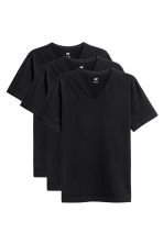 3-pack T-shirts Slim fit - Black - Men | H&M CN 2
