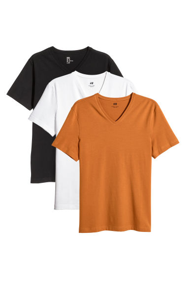 3-pack t-shirts Slim fit Modell