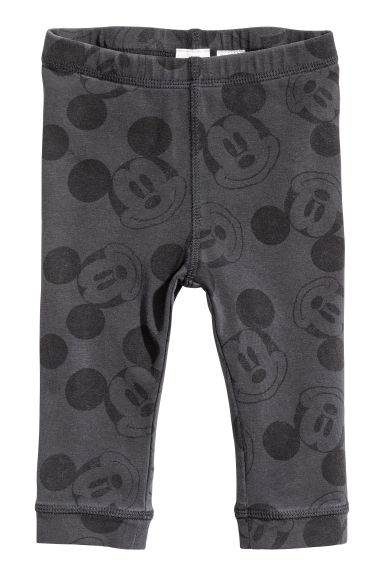 Jersey leggings - Dark grey/Mickey Mouse -  | H&M