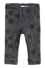 Tricot legging - Donkergrijs/Mickey Mouse - KINDEREN | H&M BE 1