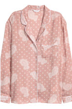Pyjama shirt and bottoms - Pink/Patterned - Ladies | H&M IE 4