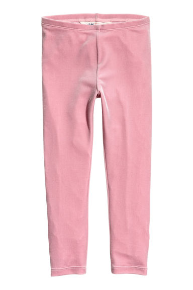 Velour leggings - Pink -  | H&M 1