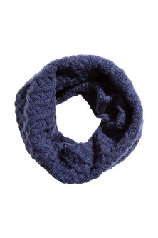 Textured-knit tube scarf