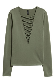 Top with lacing