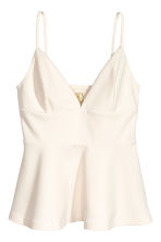 Crêpe top - Natural white - Ladies | H&M 2