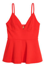Top met V-hals - Felrood - DAMES | H&M NL 2
