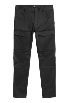 Satin biker trousers