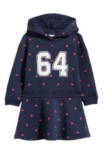 Sweatshirt dress - Dark blue/Hearts - Kids | H&M 2