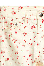 Enkellange stretchbroek - Wit/bloemen - DAMES | H&M BE 3