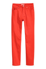 Enkellange stretchbroek - Rood - DAMES | H&M BE 2