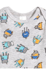 Long-sleeved bodysuit - Grey/Robot - Kids | H&M 2